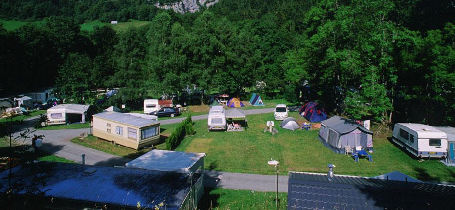 Vue du camping à Campan