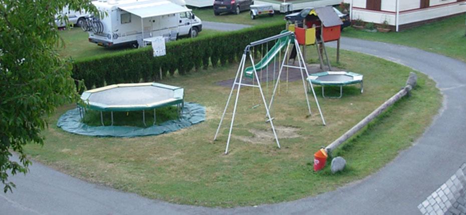 L'aire de jeux du camping