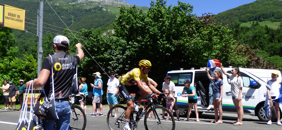 Le tour de France passe devant notre camping des Hautes Pyrénées