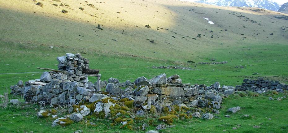 Paysage de montagne près de Campan