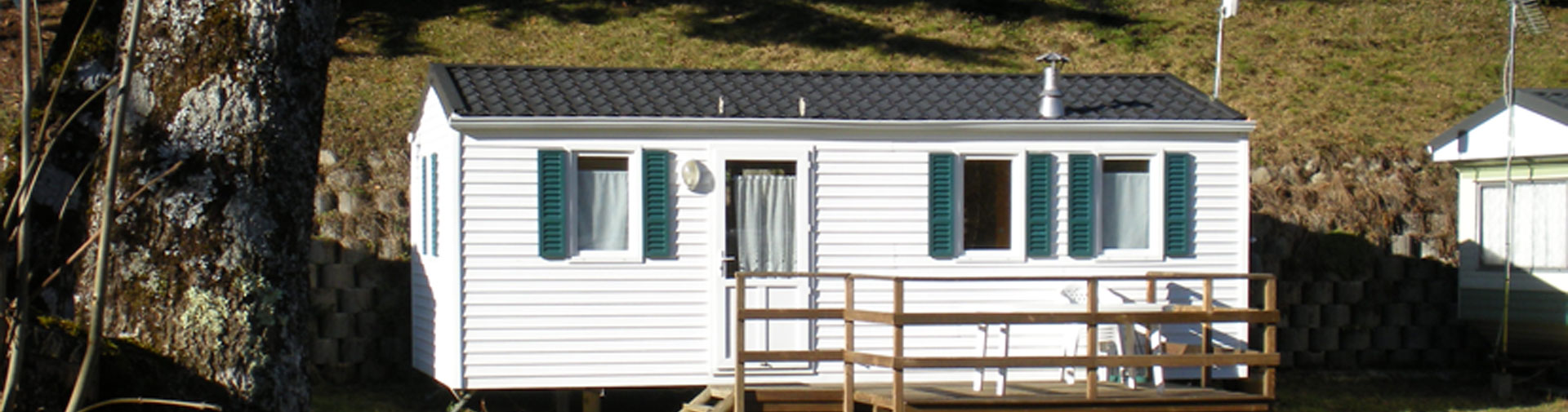 mobil home ohara 2 chambres 4 5 personnes camping oree des monts hautes pyrenees